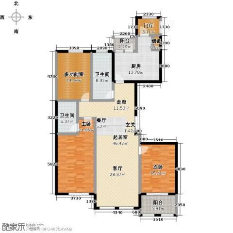 北海公馆2室0厅2卫1厨195.00㎡户型图
