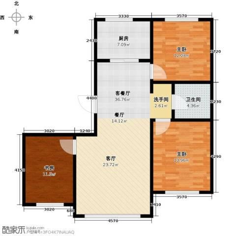 金鼎凤凰城3室1厅1卫1厨94.00㎡户型图