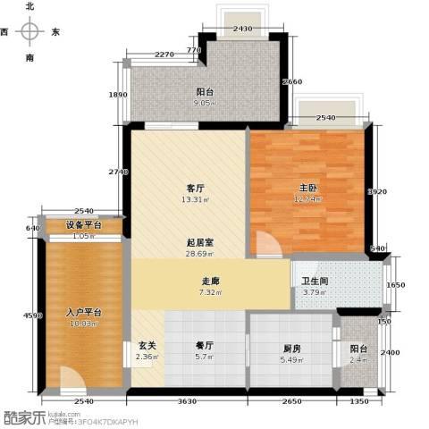 悦盈新城1室0厅1卫1厨82.00㎡户型图