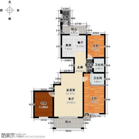 大正莅江3室0厅2卫0厨166.00㎡户型图