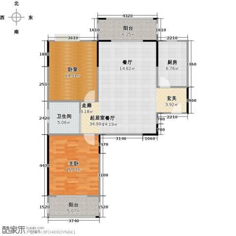 美生中央广场1室0厅1卫1厨94.00㎡户型图