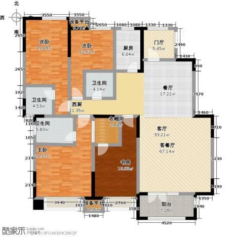 天安珑园4室1厅3卫1厨187.00㎡户型图