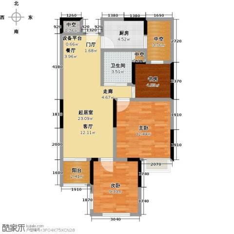雅戈尔新东城3室0厅1卫1厨75.00㎡户型图