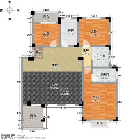 晟地绿园3室0厅2卫1厨120.00㎡户型图