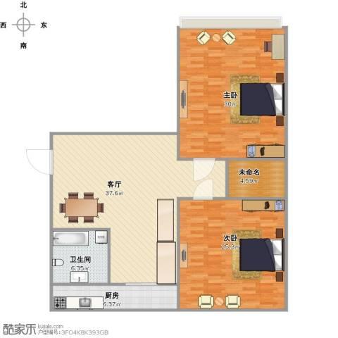 青园小区2室1厅1卫1厨146.00㎡户型图