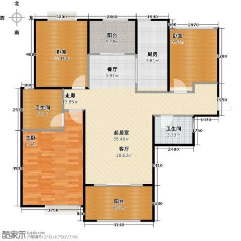 首开太湖一号1室0厅2卫1厨142.00㎡户型图
