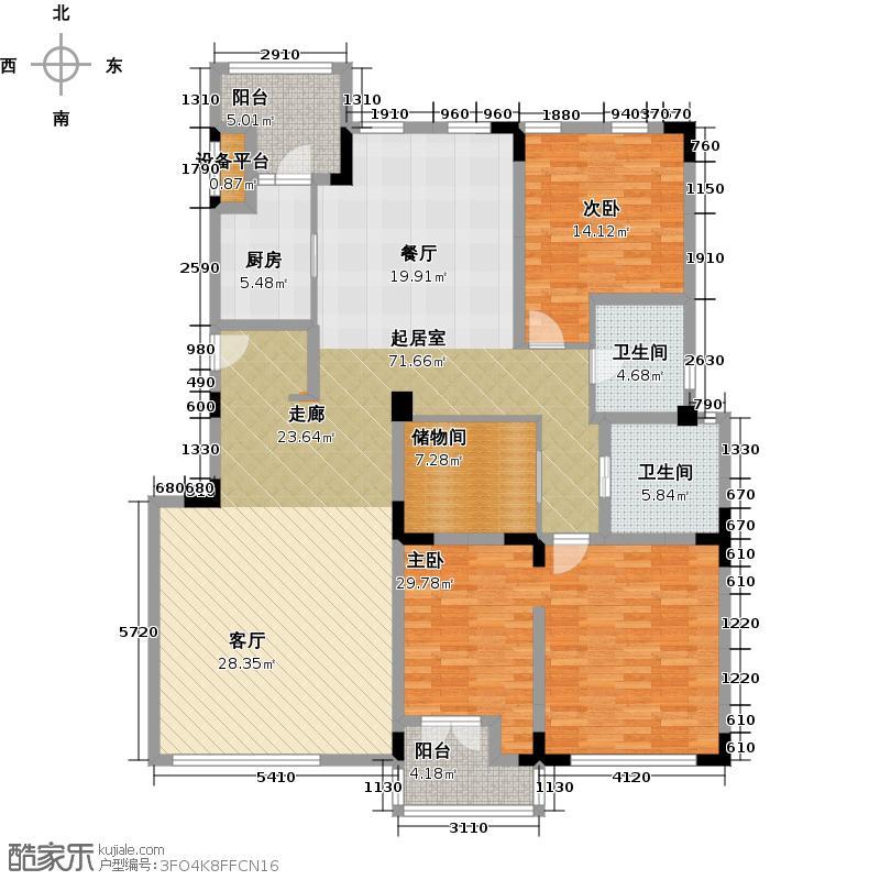 弘泽制造168.00㎡洋房168㎡(二层)户型3室2厅2卫