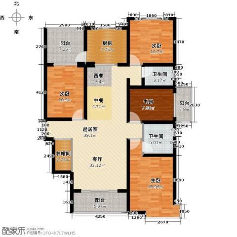 天水丽城二期4室0厅2卫1厨160.00㎡户型图