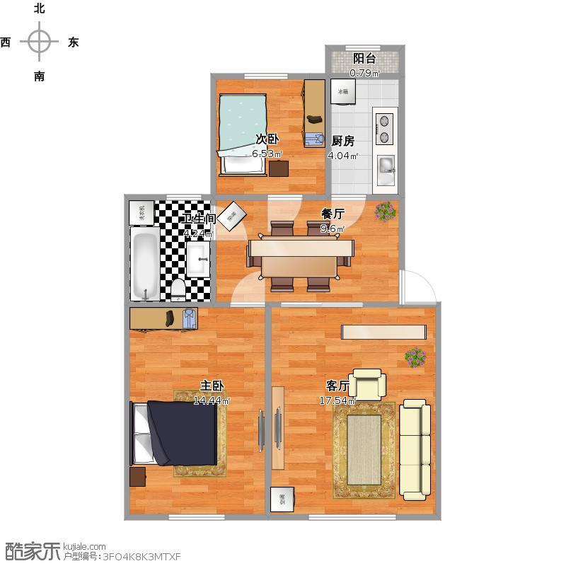 福信北辰公寓户型图
