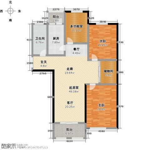 北海公馆2室0厅1卫1厨182.00㎡户型图