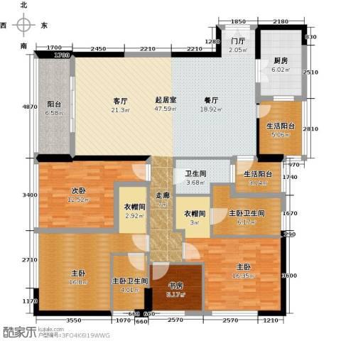 华贸中心4室0厅1卫1厨193.00㎡户型图