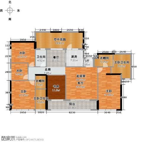 华贸中心5室0厅1卫1厨236.00㎡户型图