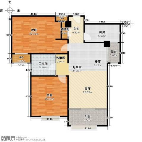 宝能城2室0厅1卫1厨101.00㎡户型图