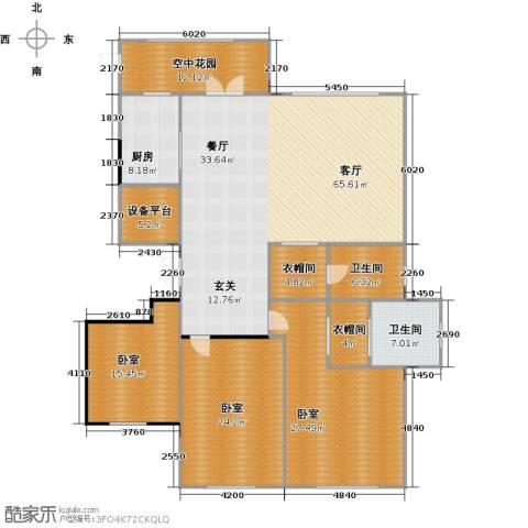 信泰龙跃国际1厅2卫1厨191.00㎡户型图