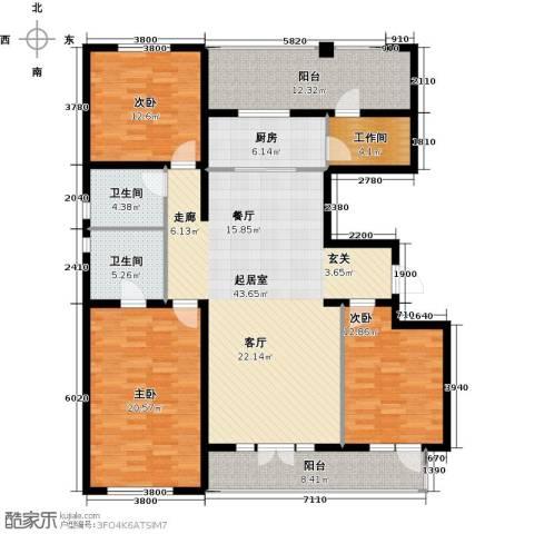 宜和澜岸3室0厅2卫1厨183.00㎡户型图