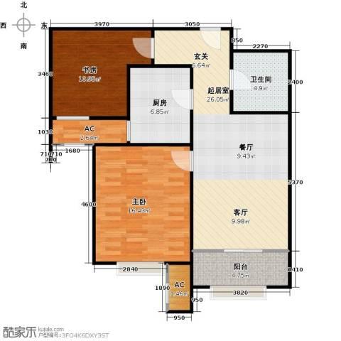 宝能城2室0厅1卫1厨75.00㎡户型图