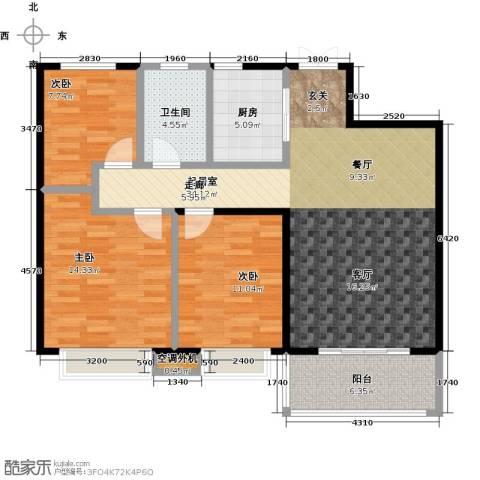 九江曼城3室0厅1卫1厨99.00㎡户型图