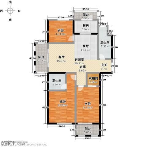 北海公馆3室0厅2卫1厨181.00㎡户型图