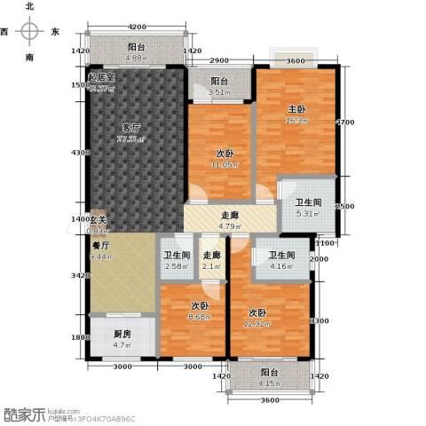 世纪苑4室0厅3卫1厨143.00㎡户型图