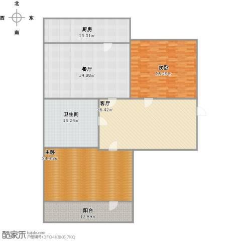 营市东街单位宿舍2室2厅1卫1厨238.00㎡户型图
