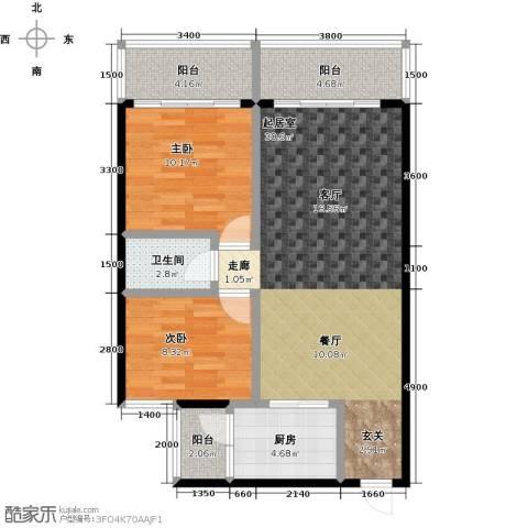 世纪苑2室0厅1卫1厨80.00㎡户型图