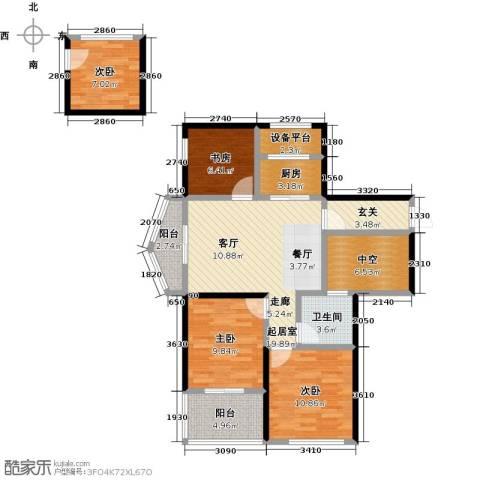 康恒嘉和豪庭4室0厅1卫1厨118.00㎡户型图