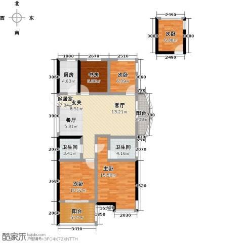 康恒嘉和豪庭5室0厅2卫1厨138.00㎡户型图