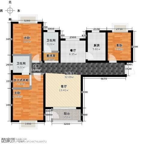 丽晶名邸3室0厅2卫1厨119.00㎡户型图