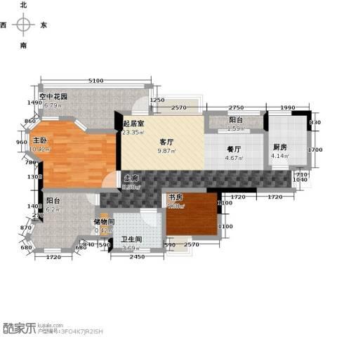 英伦世家2室0厅1卫1厨90.00㎡户型图