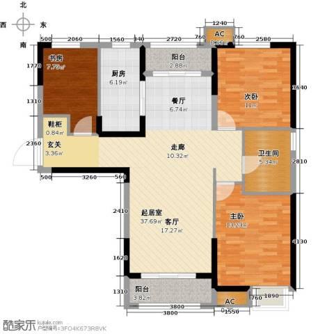 夏洛兹花园3室0厅1卫1厨103.00㎡户型图