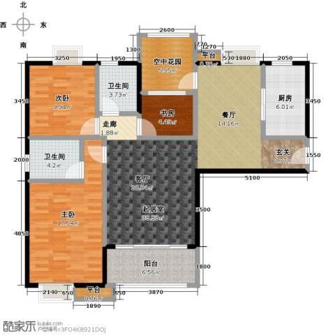 易景凯旋城3室0厅2卫1厨123.00㎡户型图