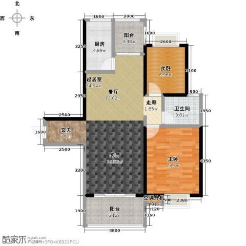 易景凯旋城2室0厅1卫1厨93.00㎡户型图