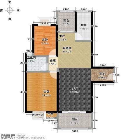 易景凯旋城2室0厅1卫1厨94.00㎡户型图