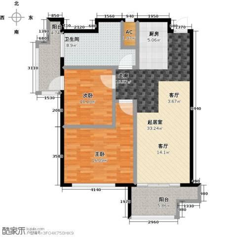 蓝海国际公寓2室0厅1卫0厨114.00㎡户型图