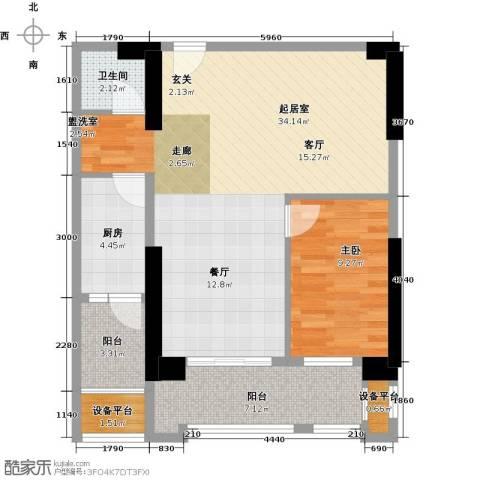 湘运大厦・曼哈顿1室0厅1卫1厨91.00㎡户型图