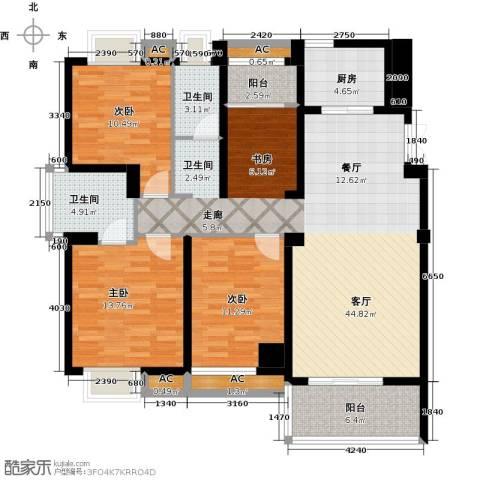 永鸿厦门湾1号3室1厅2卫1厨153.00㎡户型图