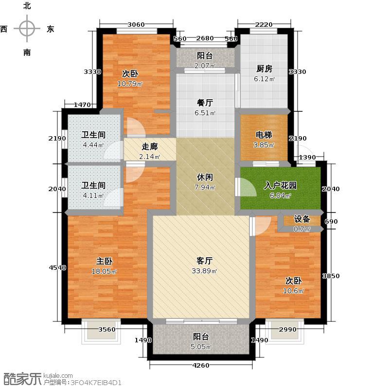 顺泽怡景华庭户型3室1厅2卫1厨