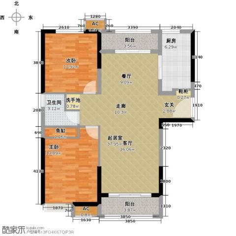 夏洛兹花园2室0厅1卫1厨95.00㎡户型图
