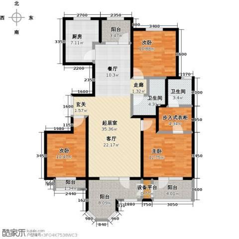 中铁秦皇半岛3室0厅2卫1厨135.00㎡户型图