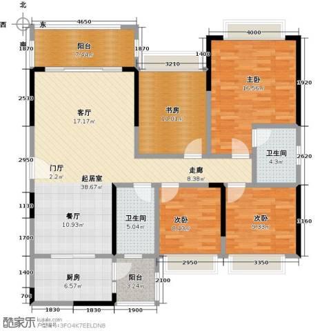 君华硅谷4室0厅2卫1厨124.00㎡户型图