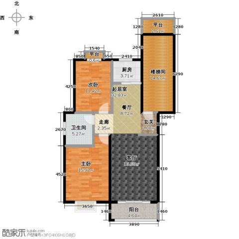 锦城丽景2室0厅1卫1厨130.00㎡户型图
