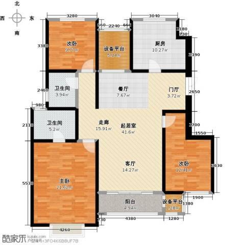 吉宝季景兰庭3室0厅2卫1厨131.00㎡户型图