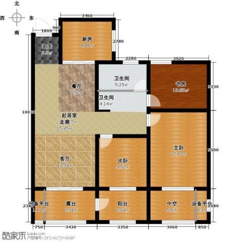 河东岸3室0厅1卫1厨165.00㎡户型图