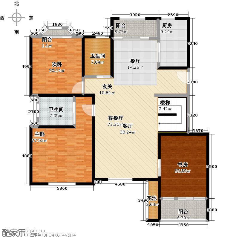 喜山201.33㎡54-55#九层平面_边户户型