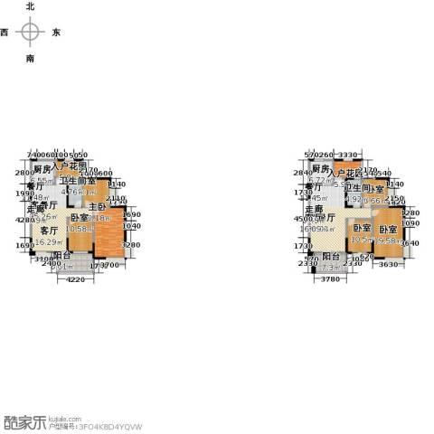 布鲁斯国际新城1室2厅2卫2厨286.00㎡户型图