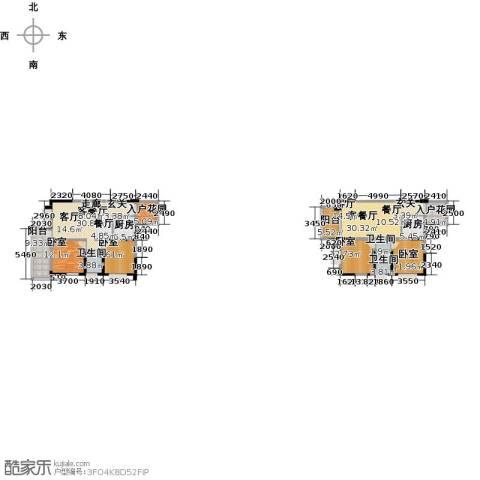 布鲁斯国际新城2厅2卫2厨220.00㎡户型图