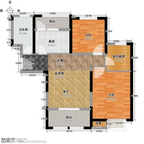 天保月湾2室0厅1卫1厨87.00㎡户型图