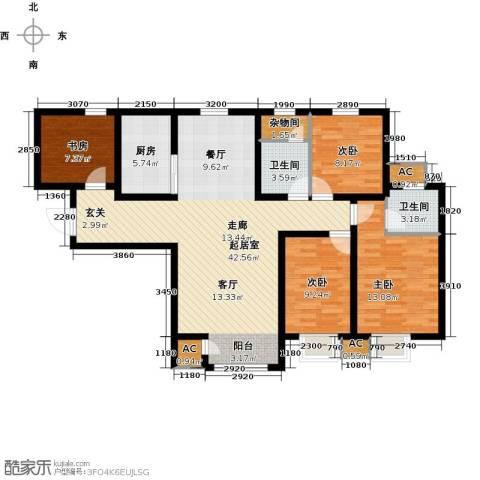 钱隆学府4室0厅2卫1厨118.00㎡户型图
