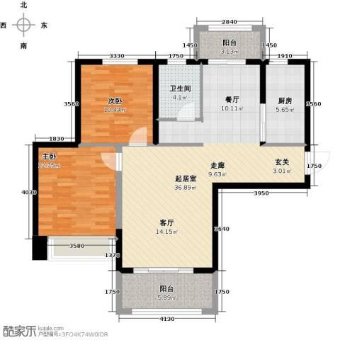 祥隆理想城2室0厅1卫1厨90.00㎡户型图