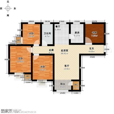 钱隆学府4室0厅1卫1厨105.00㎡户型图